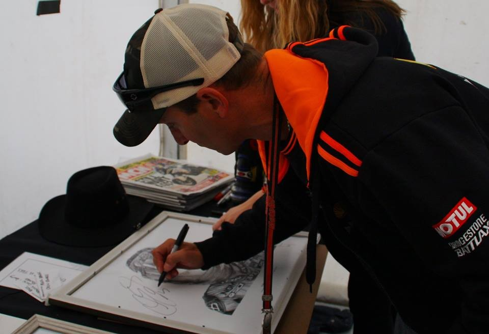 Colin Edwards Signing